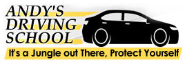 Logo, Andy's Driving School - Driving School